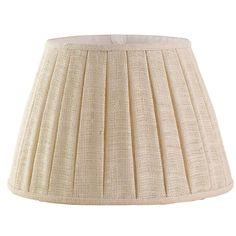 18 inch Wide Boxpleat Burlap Lamp Shade