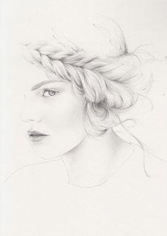 emma leonard fashion illustration #braids
