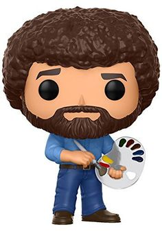 From the joy of painting, Bob Ross, as a stylized pop vinyl from Funko! Stylized collectable stands 3 ¾ inches tall, perfect for any Bob Ross fan! Collect and display all television pop! Vinyls and let our Bob Ross pop! help you paint some happy little trees!   toys4mykids.com