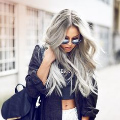 This hairstyle in whites grey and platinum is my ultimate inspiration right now. There is no way I want grey hair now, but it's a good idea to save for when I am actually turning grey in like 30 years, then I might as well make it a pretty grey.