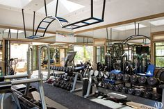 Gisele Bündchen and Tom Brady's Los Angeles Home  GYM The gym, designed by Out-Fit, is equipped with custom-made wrought-iron monkey bars.