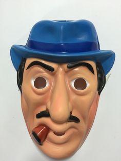 Vtg Dick Tracy Big Boy Collegeville Ben Cooper Halloween Mask Gangster Plastic | eBay
