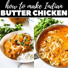 Veg Recipes, Asian Recipes, Cooking Recipes, Healthy Recipes, Easy Indian Food Recipes, Healthy Indian Food, Authentic Indian Recipes, Authentic Indian Chicken Curry, Vegetarian Butter Chicken