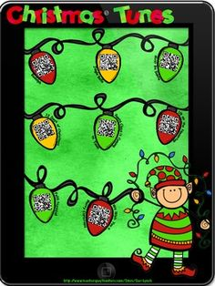 Add some Holiday Music into your school Day!  Kids just scan the QR Code and a Christmas song plays!  Best part, it's a FREEBIE!  Try it out in your classroom.  If your students love it, visit my store for QR Stories to incorporate into your reading centers!  FREEBIE! #Christmas #Christmassongs #JingleBells #kidschristmas