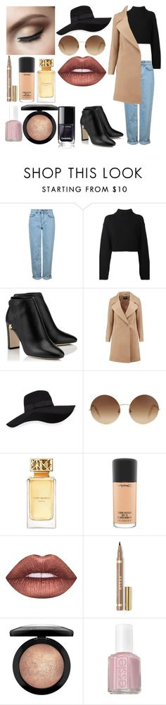 """""""Untitled #152"""" by alexandrabianca-1 on Polyvore featuring Topshop, DKNY, Boohoo, San Diego Hat Co., Victoria Beckham, Tory Burch, MAC Cosmetics, Lime Crime and Essie"""