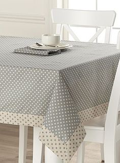 table cloth Tablecloths: Shop for Table Linens Online in Canada Polka Dot Tablecloth, Tablecloth Ideas, Rico Design, Deco Table, Table Toppers, Decoration Table, Table Linens, Table Runners, Diy And Crafts