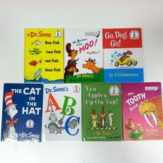 Lot of 7 Dr. Seuss Books Bright and Early Books Beginner Reading Classics