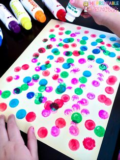 This blog post has great ideas for getting bingo dabbers started in your classroom. They are so fun for students to use!