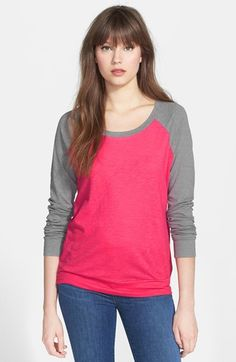 Caslon® Colorblock Cotton Tee available at #Nordstrom