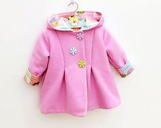 SWEETIE Hoodie Jacket sewing pattern Pdf, Easy Hooded Coat, Toddler Baby Girl Boy newborn 3 6 9 12 18 m 1 2 3 4 5 yrs Instant Download