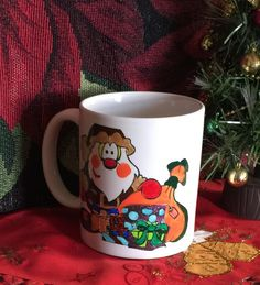 SANTA Hand-decorated Coffee Mug