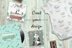 Pandas. Merry Collection by AnnArtHouze on @creativemarket
