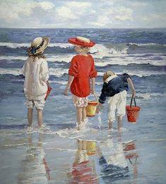 Sally Swatland - Sally Swatland Summer Memories Painting