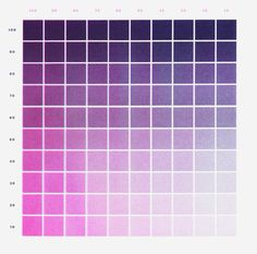 Purple + Fluorescent Pink Gradation Color Chart