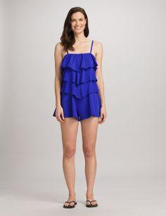 Misses | Swimwear & Cover-Ups | One Pieces | FIT 4 U Tiered Swim Romper