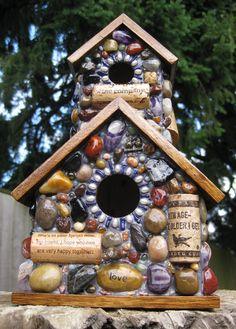 Love the mosiac bird house!