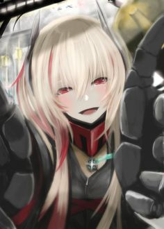 Anime Kiss, Manga Anime, Anime Art, Anime Military, Girls Frontline, Fantasy Girl, Yandere, Fantasy Characters, Character Art