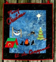 Christmas At the Campground Wall Hanging | YouCanMakeThis.com