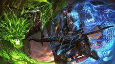 Download Genji vs Hanzo Overwatch Dragon Art Qichaowang 3840x2160