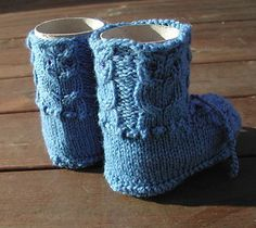 Ravelry: Owl Booties pattern by Nellas April
