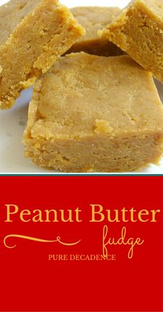 Peanut Butter Fudge is the perfect treat for the person who loves peanut butter. It is unbelievably easy to make - about 10 minutes - and is so tasty. I made some more right after I wrote this post and will be chewing on it in just a few minutes...if my kids don't devour it first.