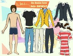 Paul McCartney paper doll / @deviantART