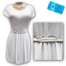 This crepe swing dress with a belt is as a fun and playful silhouette which will give your look an instant style boost. The dress is lightweight for dressing up or down, featuring short sleeves and a round neckline. Dress up with a smart blazer, or dress down with a pair of skater pumps. Slips on over the head. #wholesaleladiesdress #wholesaleladies www.topdowntrading.co.uk