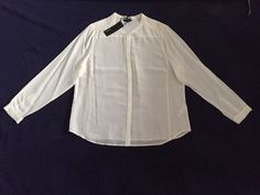 M&S AUTOGRAPH Washable 100%PURE SILK UK20 BNWT RRP£65 Ladies Shirt Cream