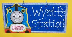 Thomas The Train Room Sign