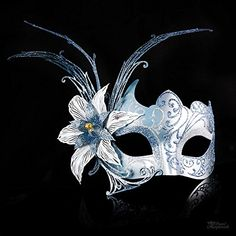 Venetian Silver and Baby Blue Dream Butterfly Masquerade ...