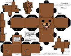 15 Cubeecraft Paper Toy Models You Will Want To Make! Origami Paper Art, 3d Paper, Paper Toys, Origami Shapes, Pedobear, Paper Dolls Clothing, Halloween Paper Crafts, Anime Crafts, Paper Models