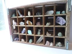 Crystal and Rock Collection Rustic Home Decor by NyeDesigns, $110.00