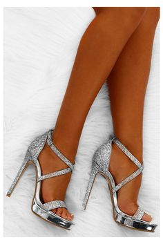 Silver Heels Prom, High Heels For Prom, Prom Heels, Black High Heels, Womens High Heels, Glitter High Heels, Homecoming Shoes Silver, Flat Prom Shoes, Formal Heels