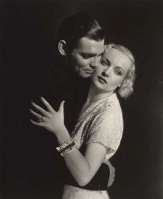 Clark Gable and Carole Lombard. A tragic love. (MY GOD I love Clark Gable <3)