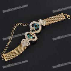 34% OFF! Elegant Crystal Alloy Bracelet - Golden #madeinchina #bracelet >http://dxurl.com/R7Jk