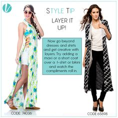 Style Tip : Play with layers this season! Add a maxi or semi-short coat to your western outfit and watch how compliments roll in ! shop layers here : http://www.vilara.com/women/apparel/jackets