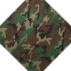 Camouflaged Military Head Scarf Bandana