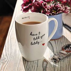 'Have I told you lately... that I love you' precious mug with a sweet little message. #Cute #Love #Porcelain #Mug #Gift #Spaceform #London