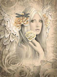 Summer Rose Angel ~ by Jessica Galbreth l Dreamy
