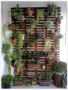 Jardín vertical. Reciclagem