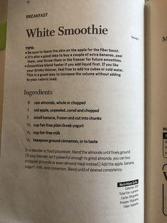 Diet Smoothie Recipes, Juice Smoothie, Blender Recipes, Revenge Body Diet, Weight Gain Journey, Weight Loss, Menopause, Body Reset Diet, 20 20 Diet