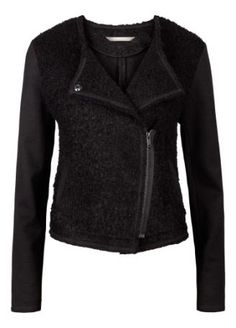 Sandwich Clothing Jacket - L/Slv Boiled Wool Blazer in Black - this is a great version of the biker style jacket and again like most of sandwich clothing is ultra comfortable yet cut beautifully
