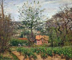 """Le chalet, la maison rose"" (1970) By Camille Pissarro (French, 1830-1903)"