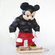 Muscle Mickey Mouse - custom Tequila figure by Daniel Fleres Baby Name Tattoos, Tattoos With Kids Names, Son Tattoos, Family Tattoos, Print Tattoos, 3d Figures, Custom Action Figures, Vinyl Figures, Mickey Mouse Tattoos