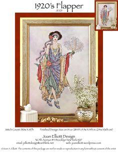 1920s Flapper | Joan Elliott Cross Stitch