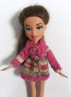 sweater for  doll Bratz Blythe small Barbie Moxie Monster