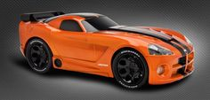 Customizable toy car @ RIDEMAKERZ! Dodge Viper - Gold Mine. Build the venomous roadster!