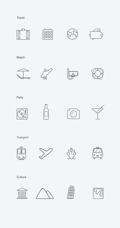 20 Free Vector Icons #flatdesign #uikits #freeicons #psdtemplates