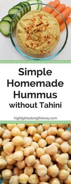 Hummus without Tahini that you make! Easy Homemade Hummus Recipe Easy Homemade Hummus without Tahini. Use simple ingredients to make delicious and healthy DIY Hummus from home right now! - Hummus without Tahini that you make! Homemade Hummus Without Tahini, Easy Hummus Recipe Without Tahini, Humus Recipe Easy, Homemade Hummus Recipe, Hummis Recipe, Clean Eating Hummus, Homemade Tahini, Recipe For Hummas, Sauces