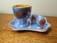 Vintage Noritake Lustre Egg Breakfast Set Egg Cup Tray Salt and Pepper